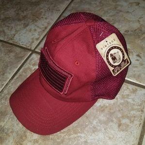 Pit Bull Velcro American Flag Strap Hat